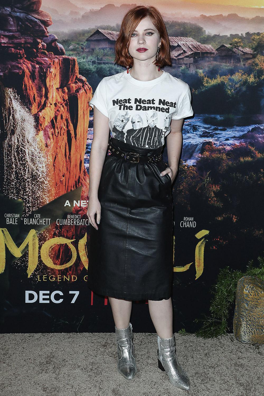 Sierra McCormick attends Mowgli Premiere