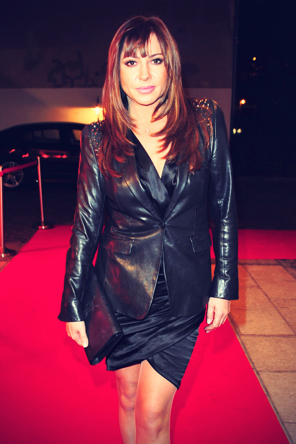 Simone Thomalla at Premiere des Porsche 911 Carrera 4