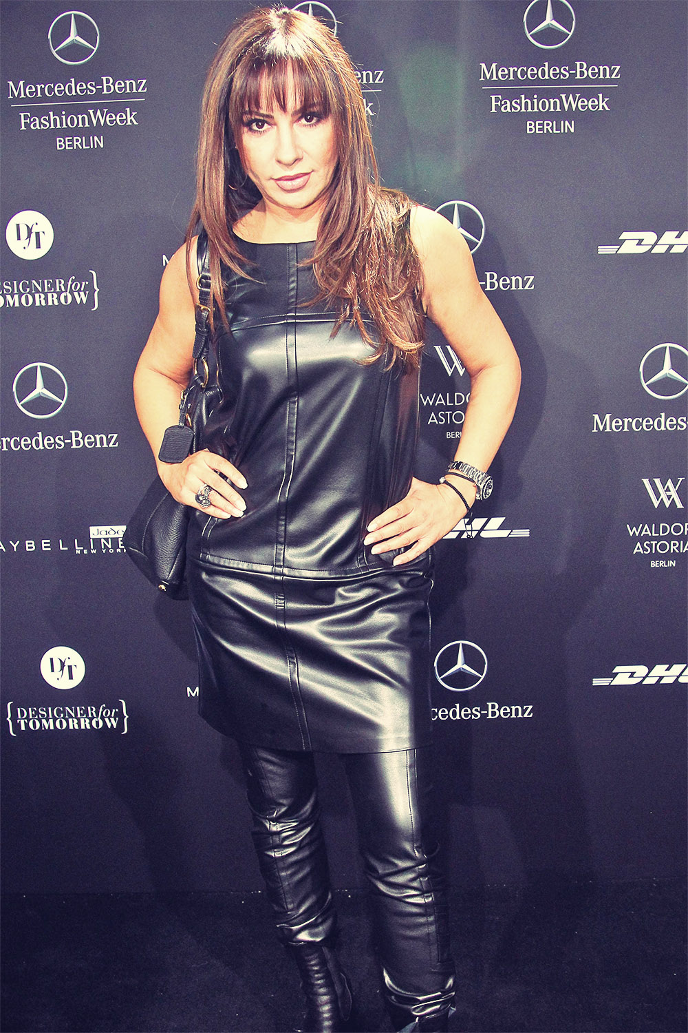 Simone Thomalla attends Mercedes-Benz Fashion Week