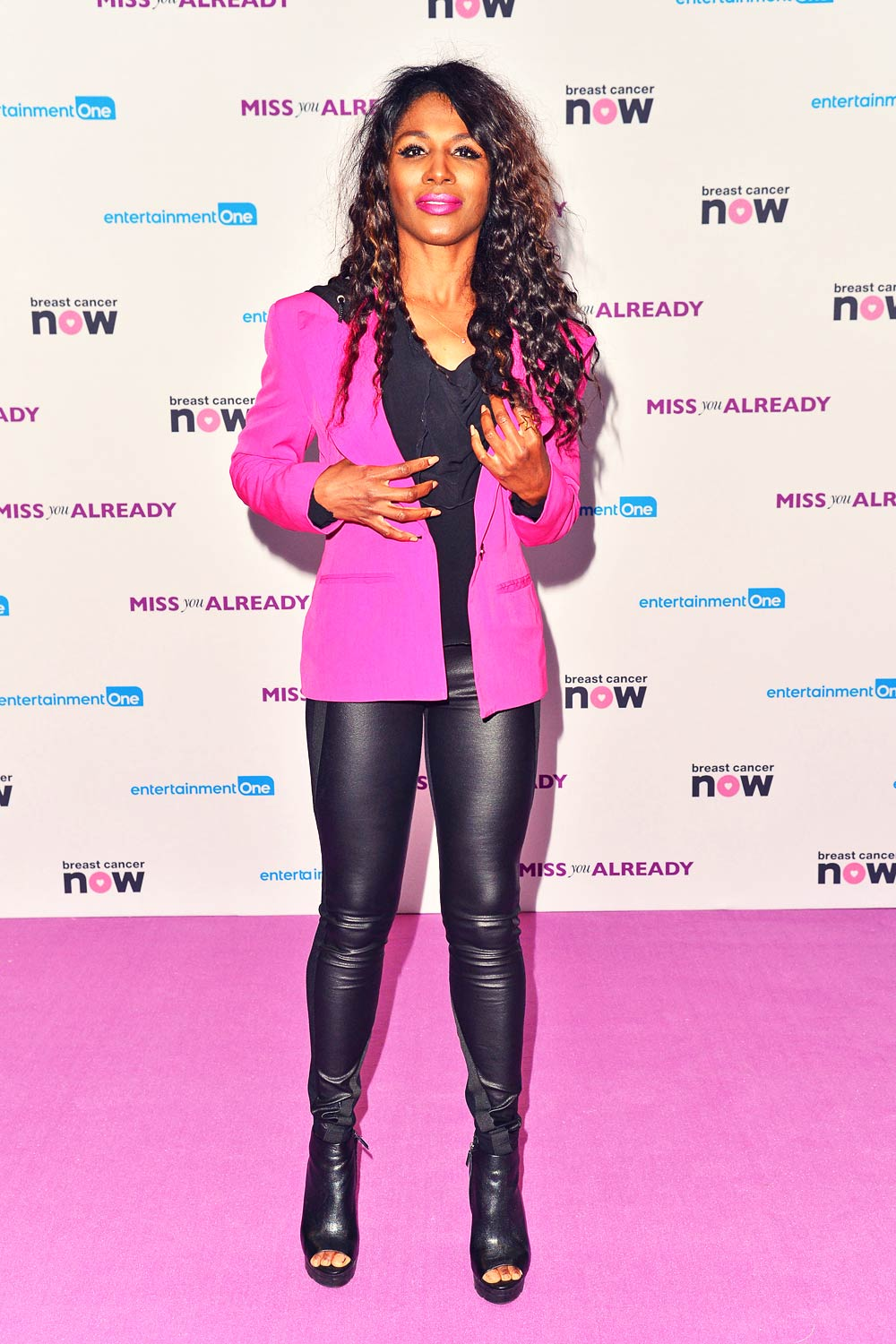 Sinitta attends Premiere Miss You Already