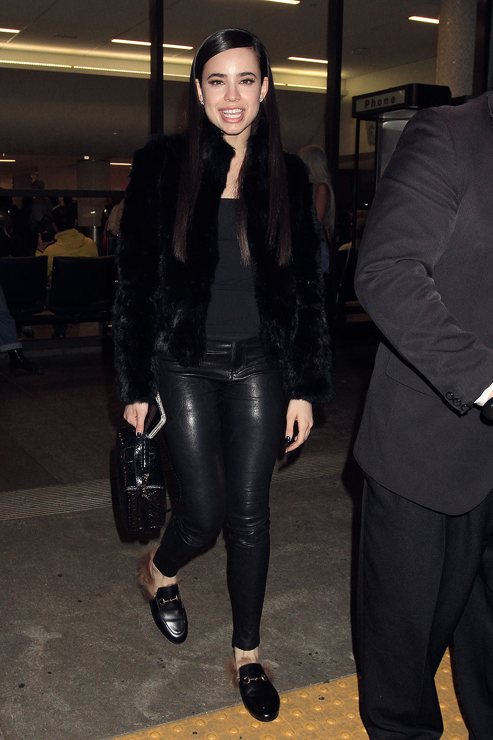 Sofia Carson Seen At Lax Leather Celebrities