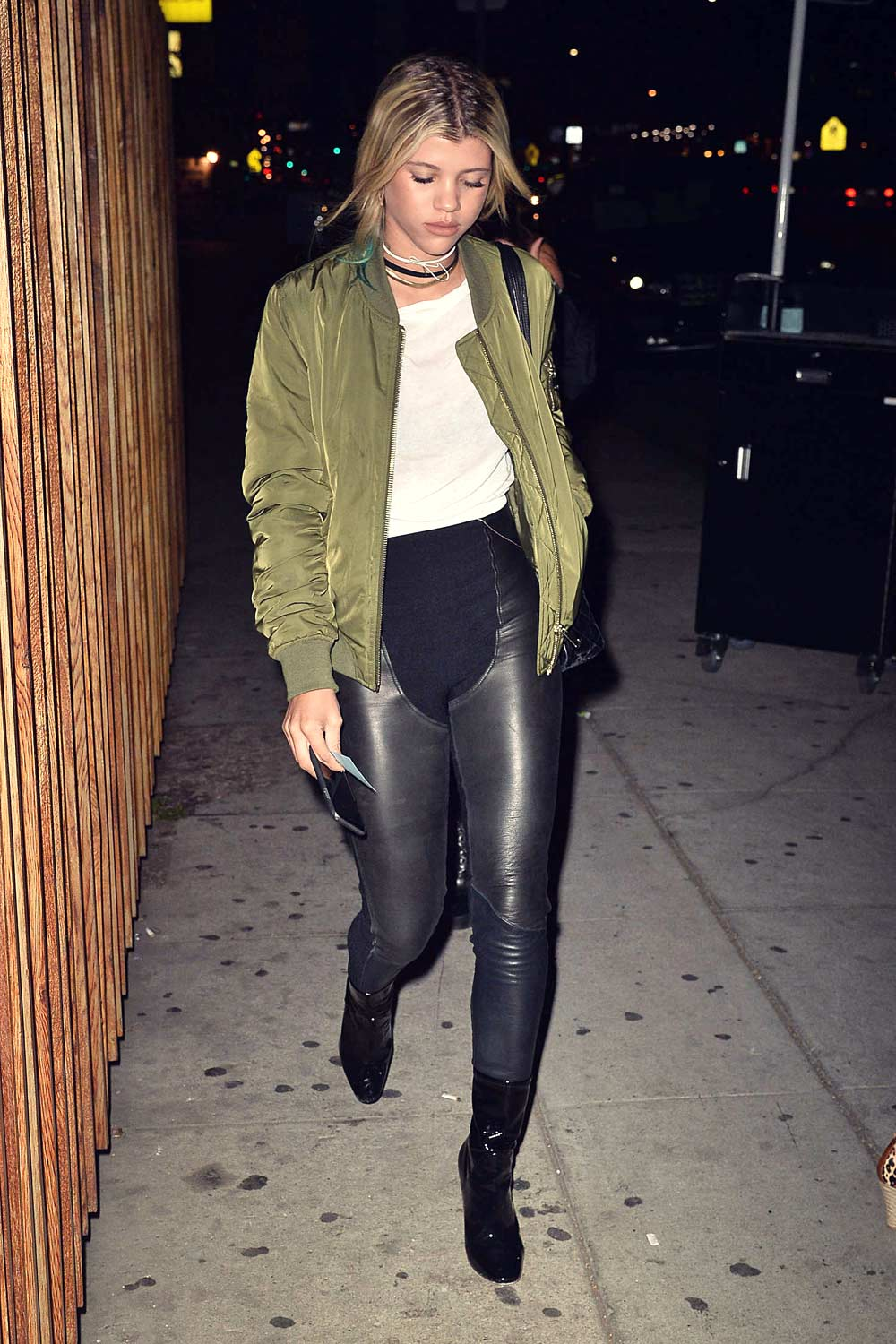Sofia Richie At The Nice Guy Leather Celebrities