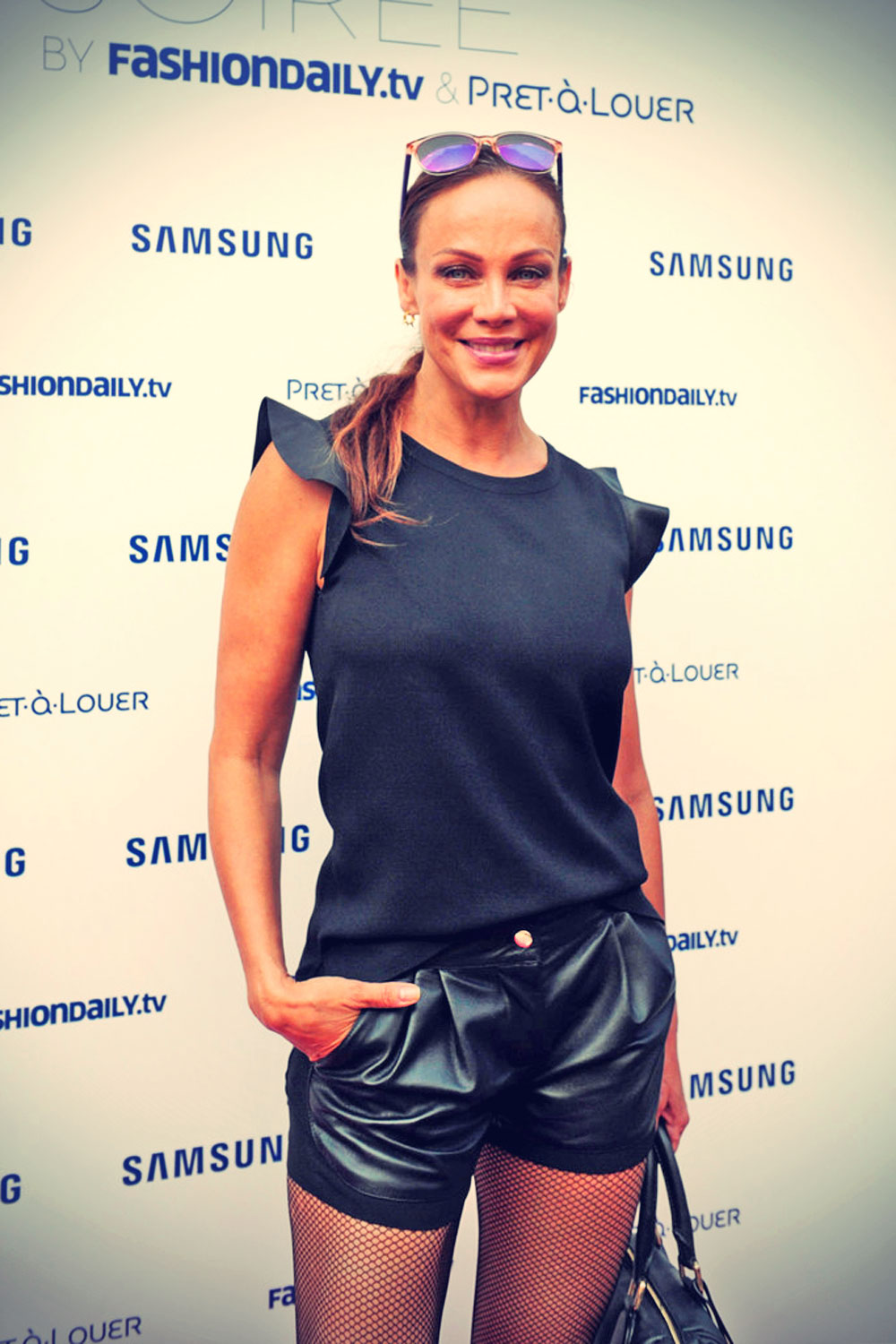 Sonja Kirchberger Attends Samsung Designer Soiree During