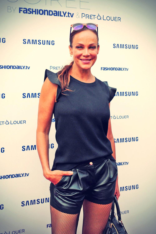 Sonja Kirchberger attends Samsung-Designer Soiree during Mercedes-Benz Fashion Week