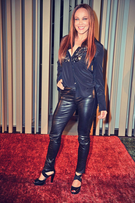 Sonja Kirchberger attends the Simone Anes & Stephan Pelger Show