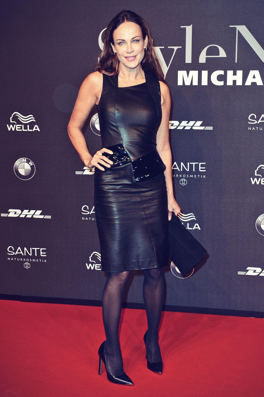 Sonja Kirchberger attends Mercedes-Benz Fashion Week