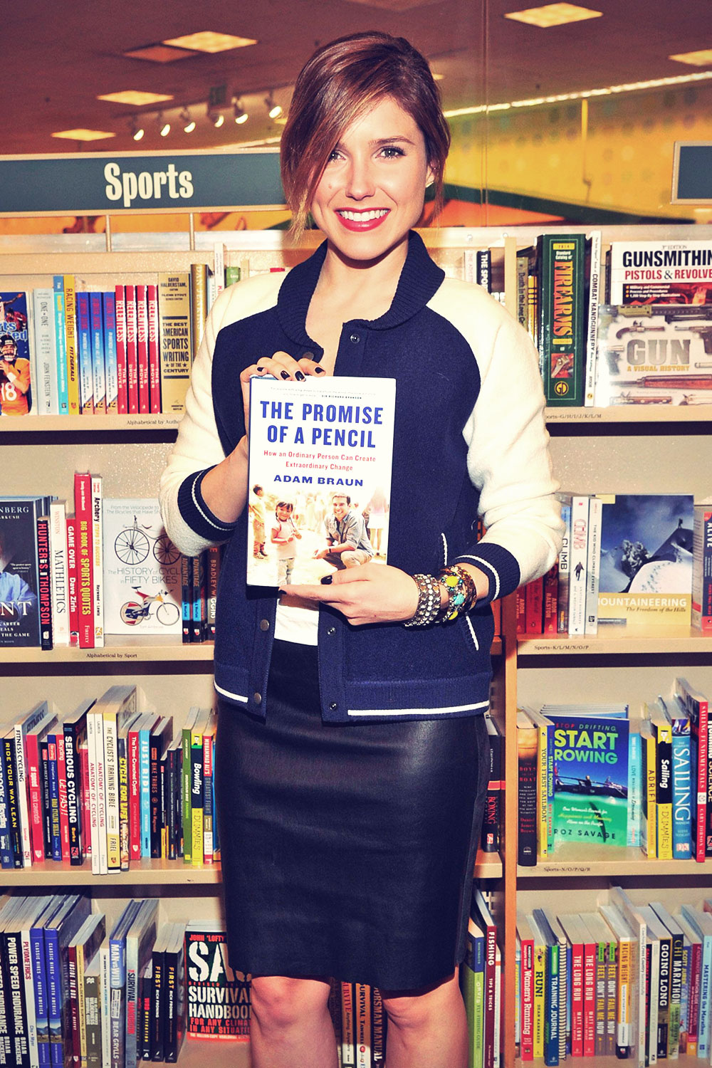 Sophia Bush at Adam Braun's book signing