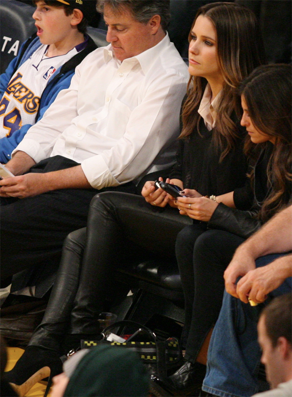Sophia Bush at the LA Lakers game