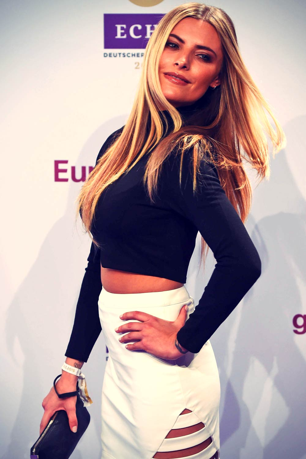 Sophia Thomalla attends the Echo awards 2015