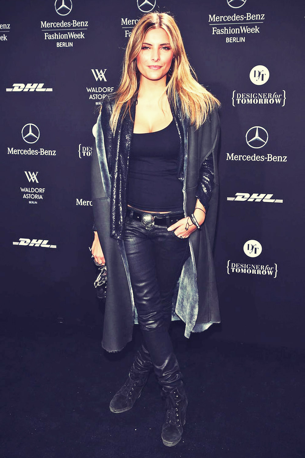 Sophia Thomalla  attends Mercedes-Benz Fashion Week Berlin 2013