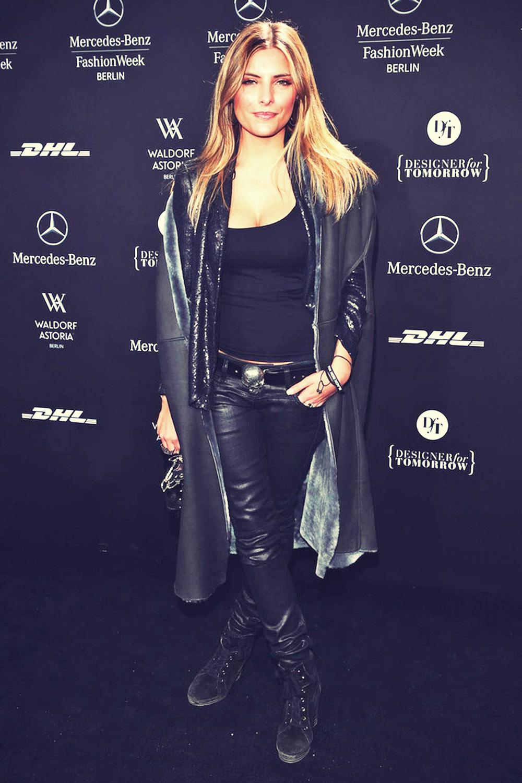 Sophia Thomalla  attends Mercedes-Benz Fashion Week Berlin 2013