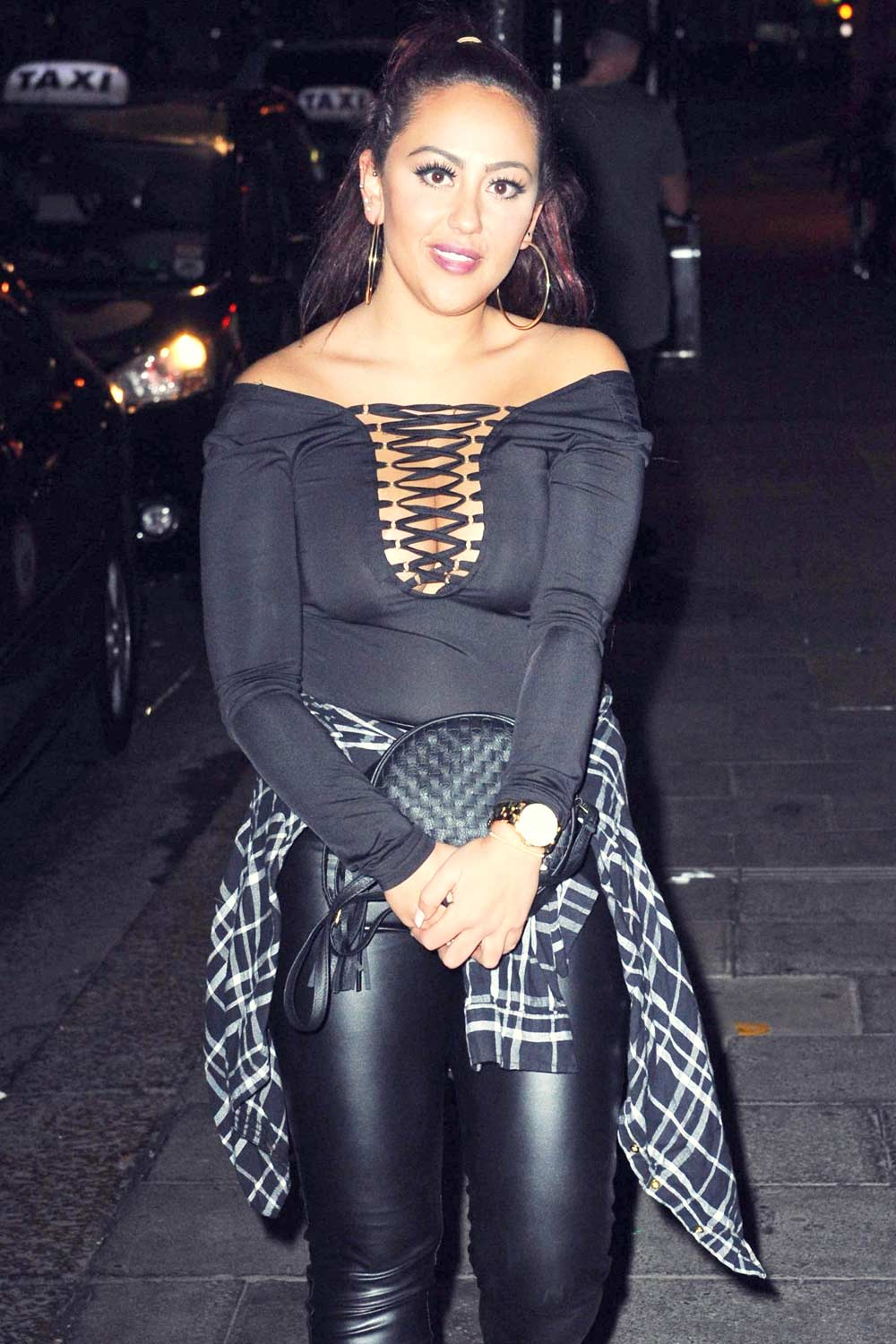Sophie Kasaei At Geordie Shore Wrap Party Leather