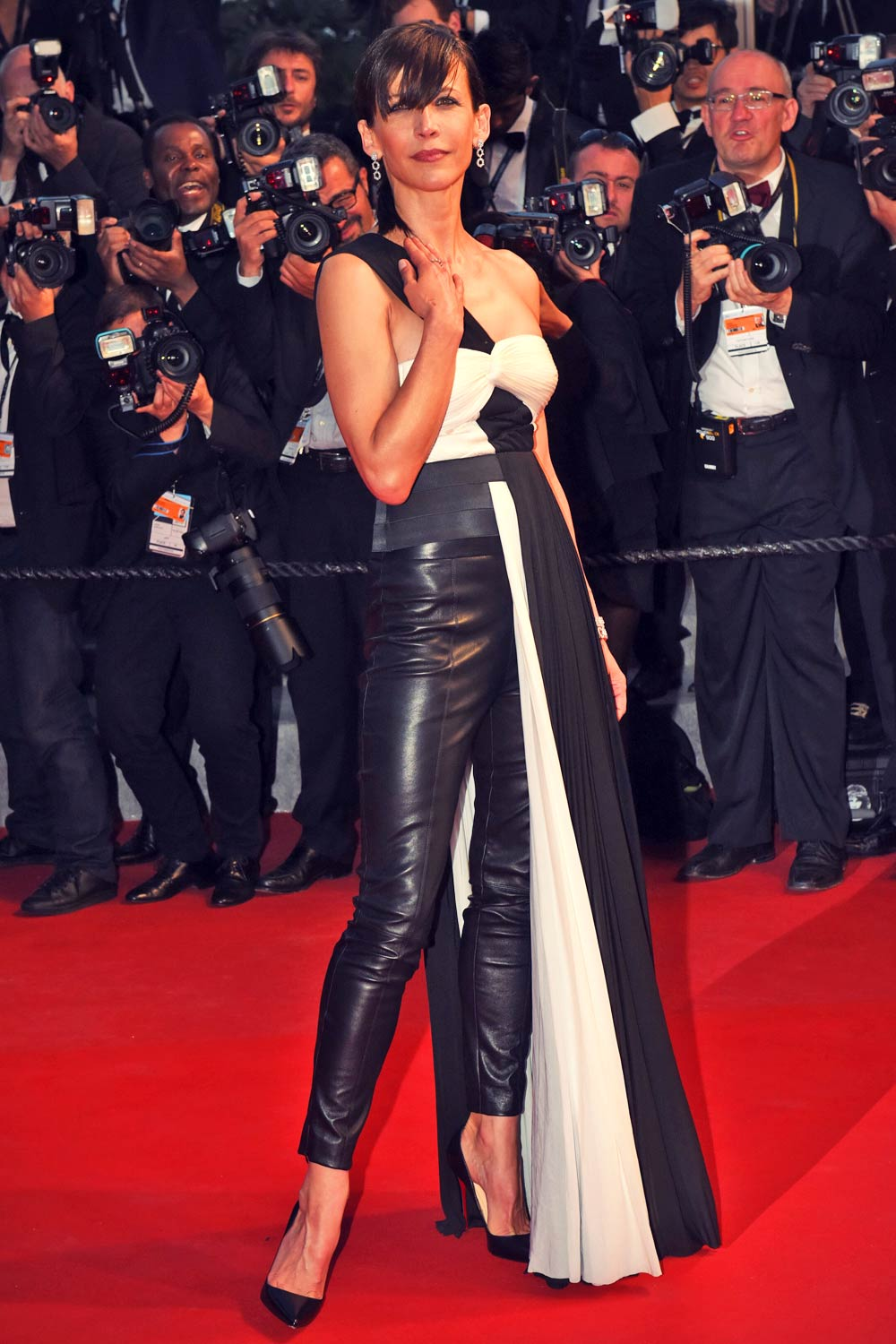 Sophie Marceau Attends Cannes Film Festival Leather