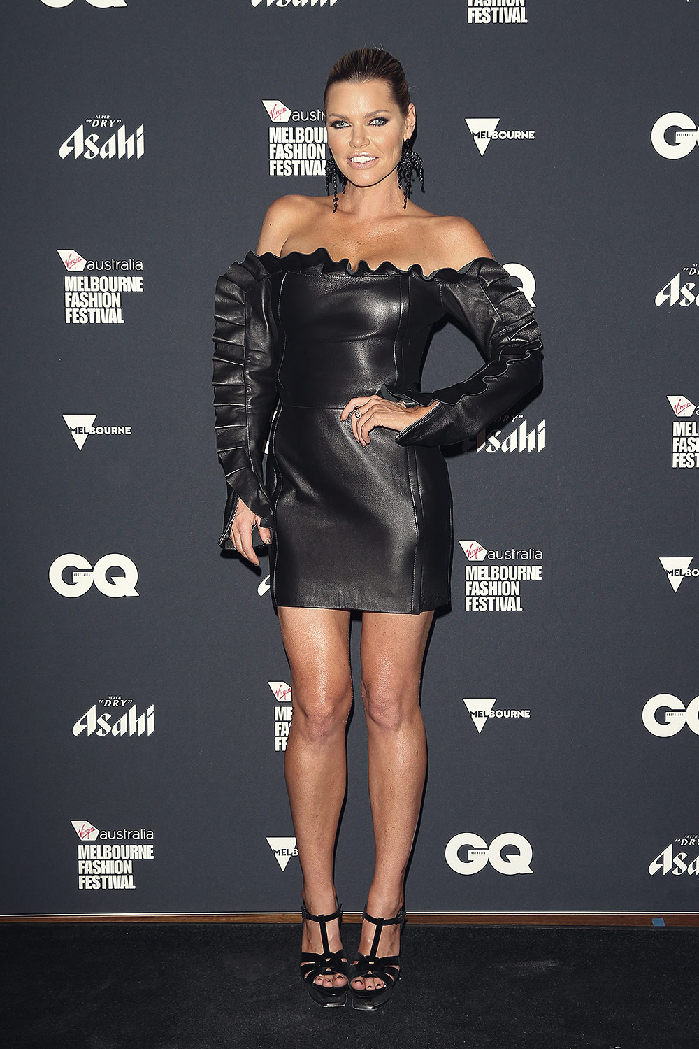 Sophie Monk Attends The Gq Mens Fashion Leather Celebrities
