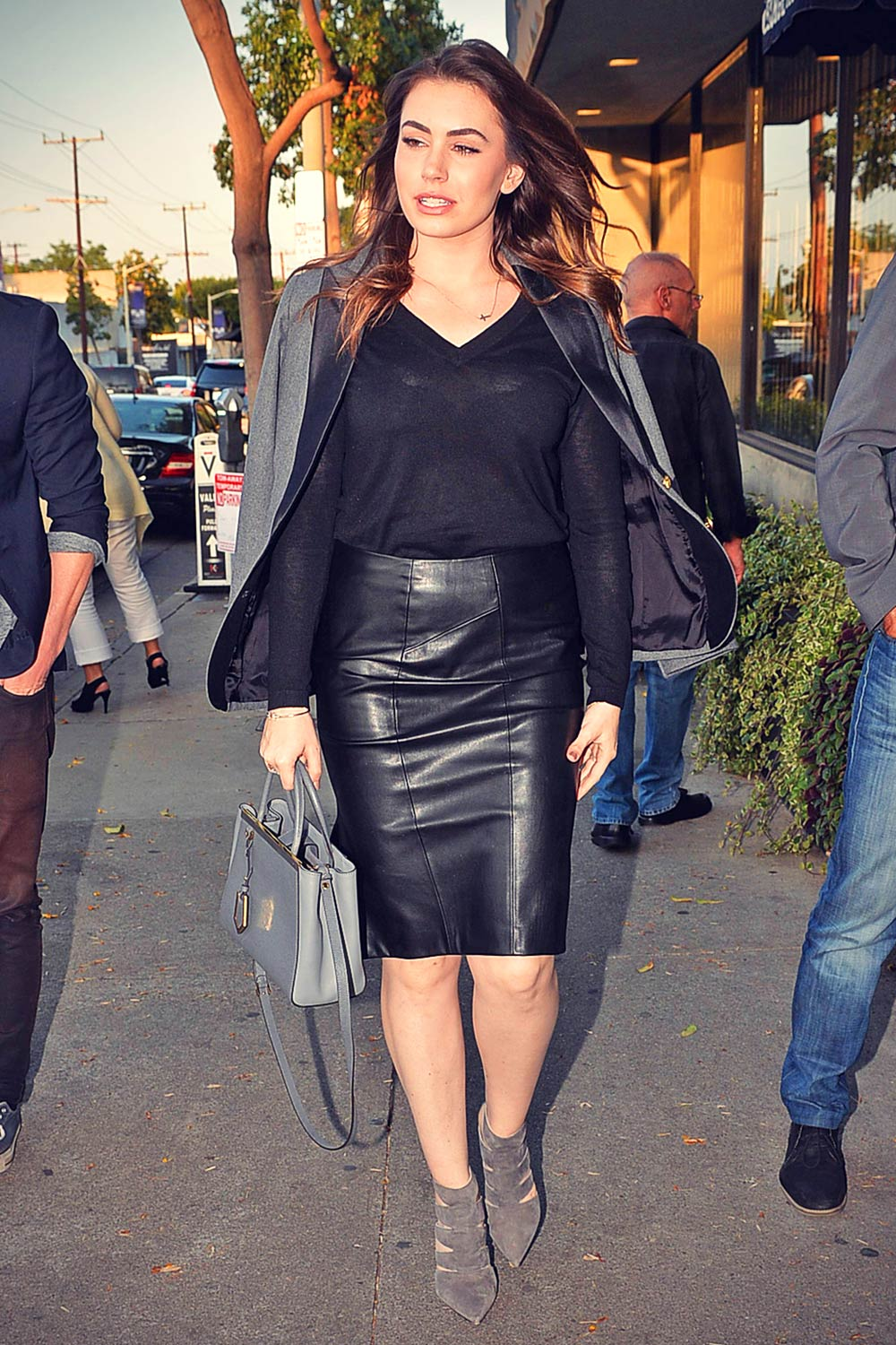 Sophie Simmons candids out in Melrose