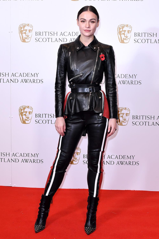 Sophie Skelton attends BAFTA Scotland Awards