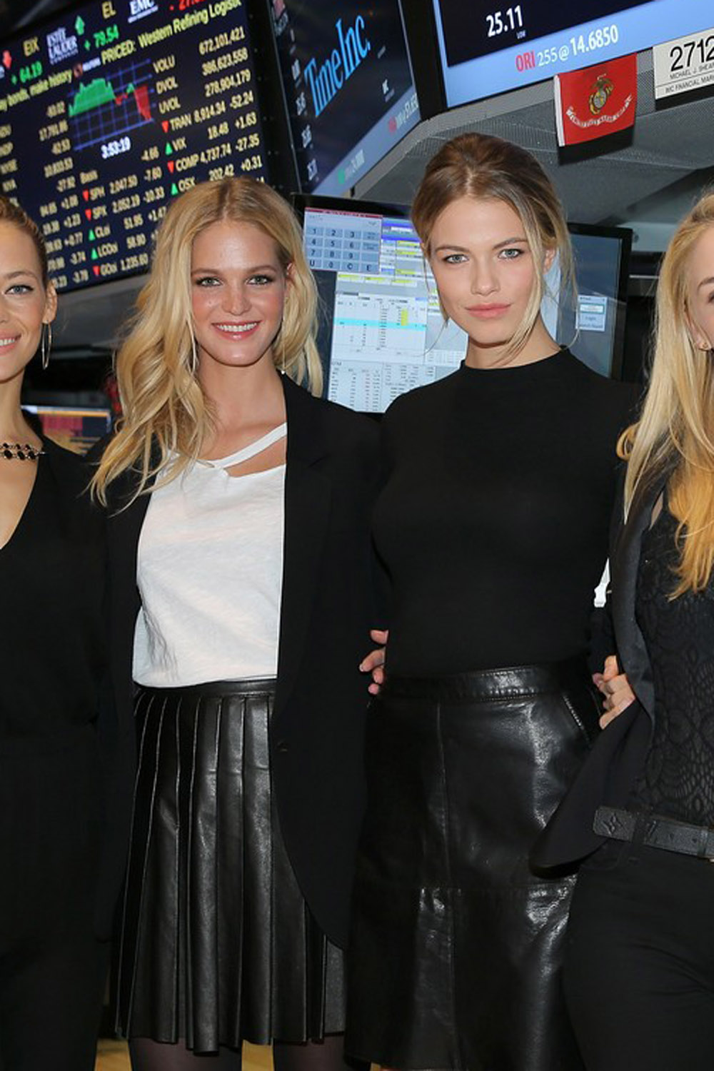 Sports Illustrated Swimsuit Models at the New York Stock Exchange