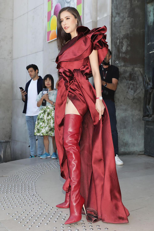 Sririta Jensen attends Elie Saab during Haute Couture