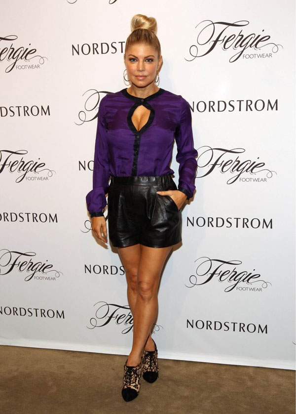 Stacey Ferguson at Nordstrom to debut the Fergie Footwear Fall 2011 Collection in LA