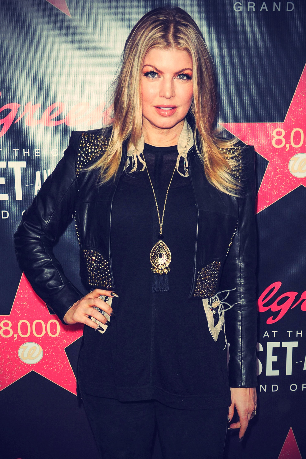 Stacey Ferguson attends Opening of Walgreens Flagship Store