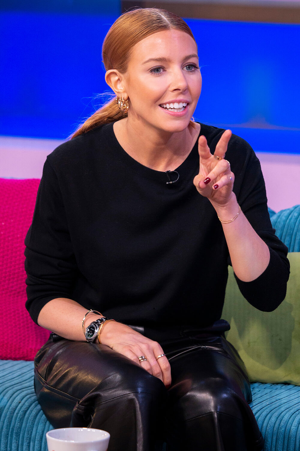 Stacey Dooley Seen At Sunday Brunch Tv Show Leather