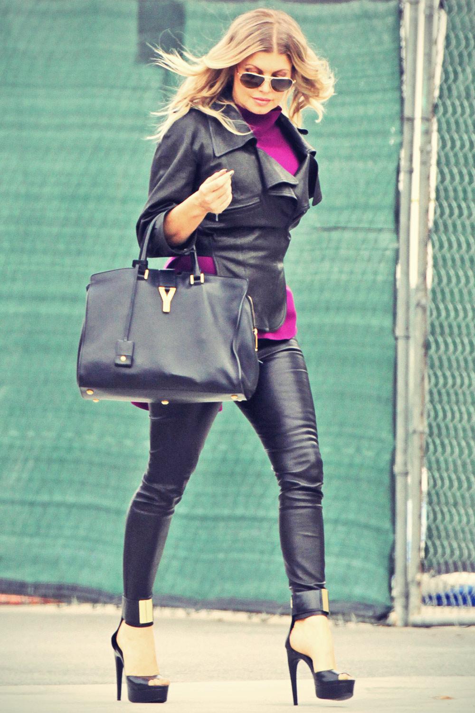 Stacy Ferguson heading to a photo studio in LA