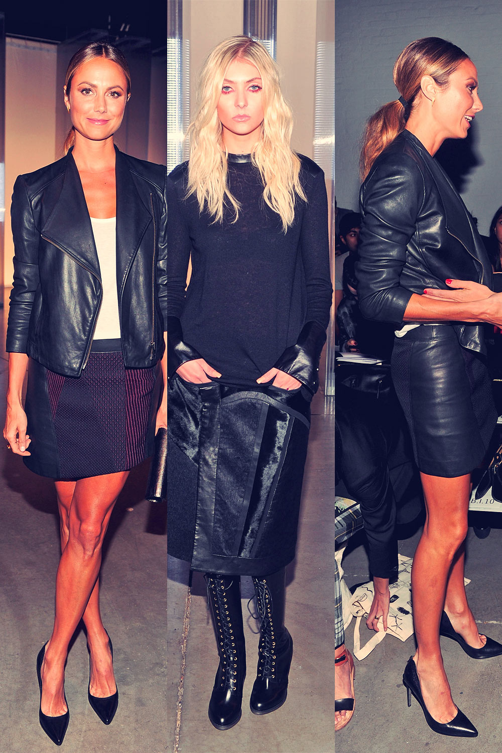 Stacy Keibler, Molly Sims and Taylor Momsen attend the Helmut Lang show