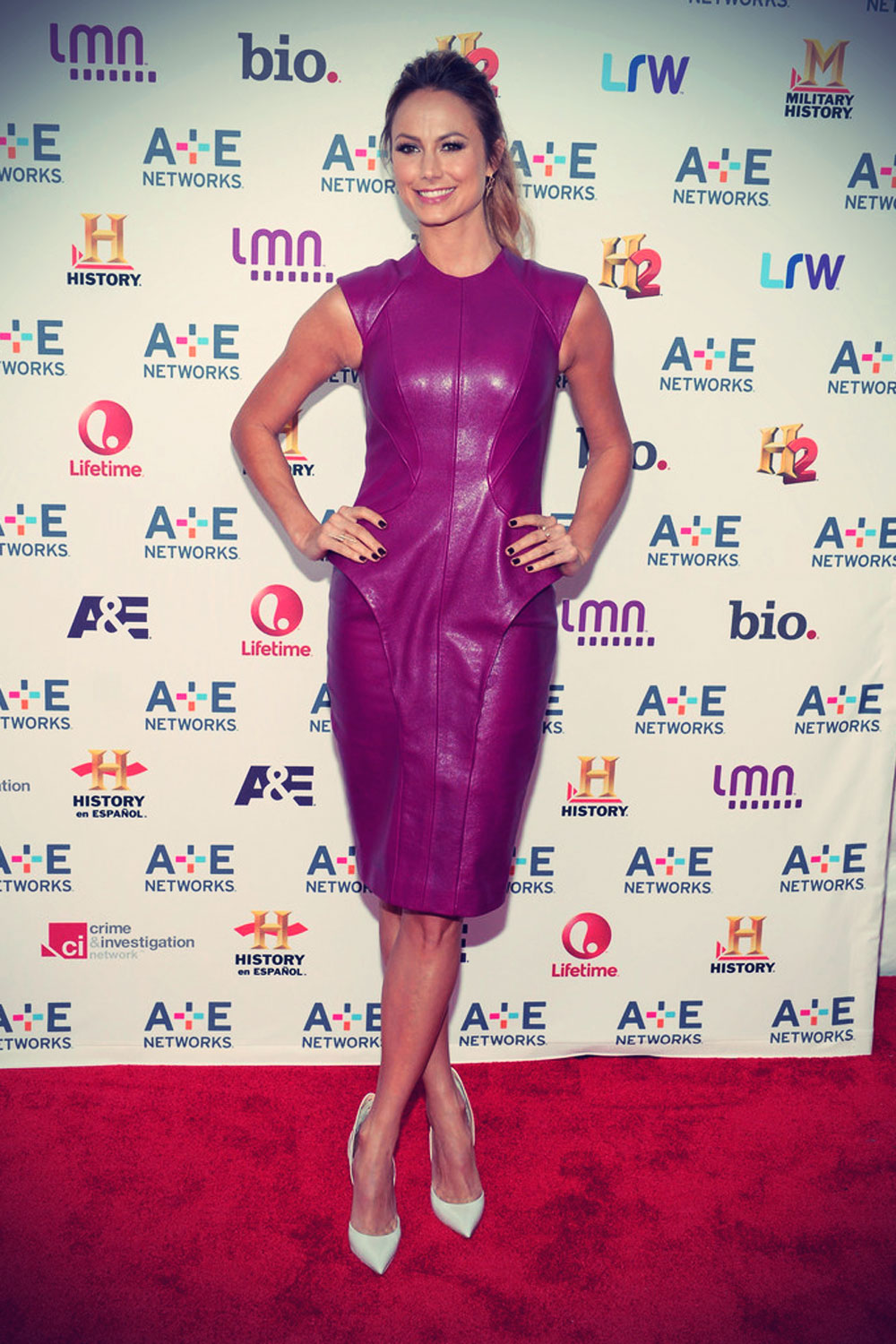 Stacy Keibler attends A+E Networks 2013 Upfront