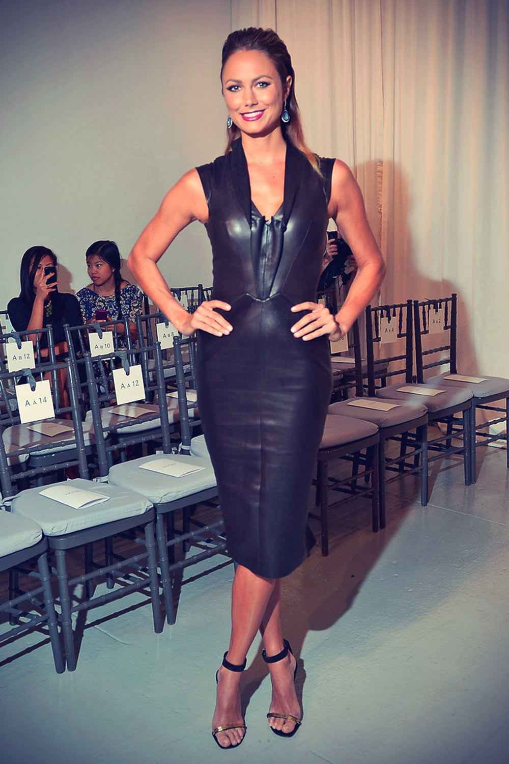 cocorocha_Stacy Keibler attends Zac Posen Fashion Show - Leather Celebrities