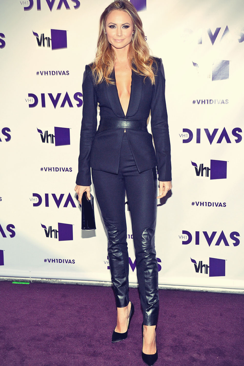 Stacy Keibler Attends 2012 Vh1 Divas Leather Celebrities