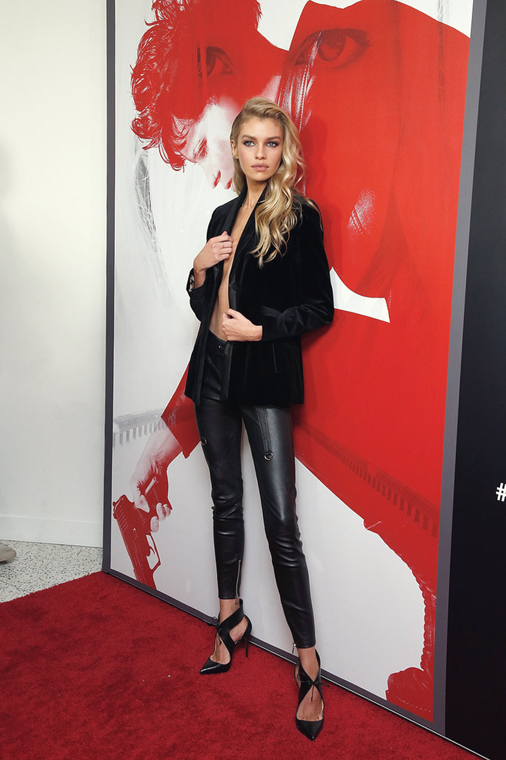 Stella Maxwell attends The Girl In The Spider's Web New York Screening