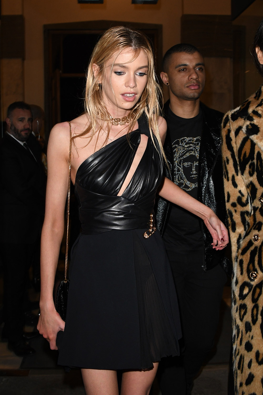 Stella Maxwell attends the dinner after Versace Show