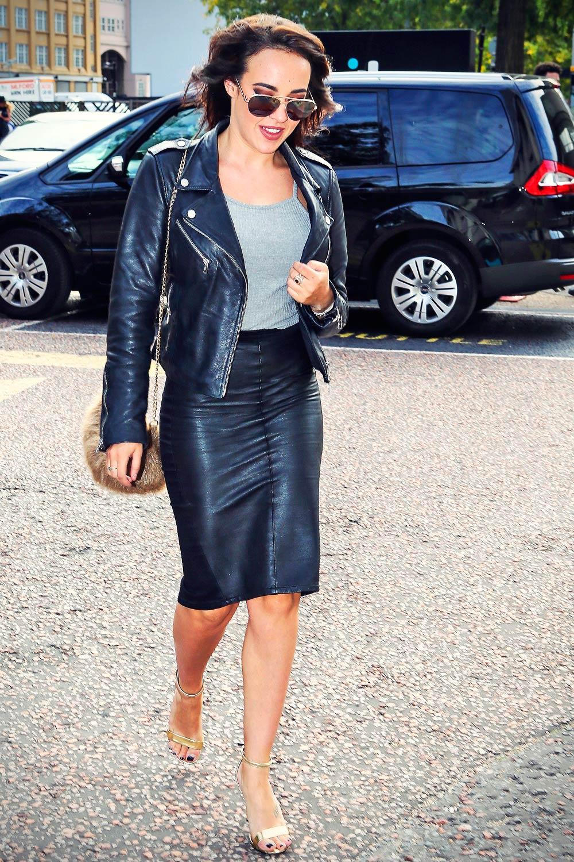 Stephanie Davis seen outside the ITV studios