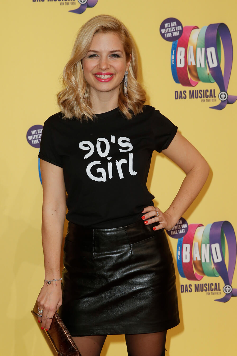 Susan Sideropoulos attends Premiere von 'Take That Musical The Band'