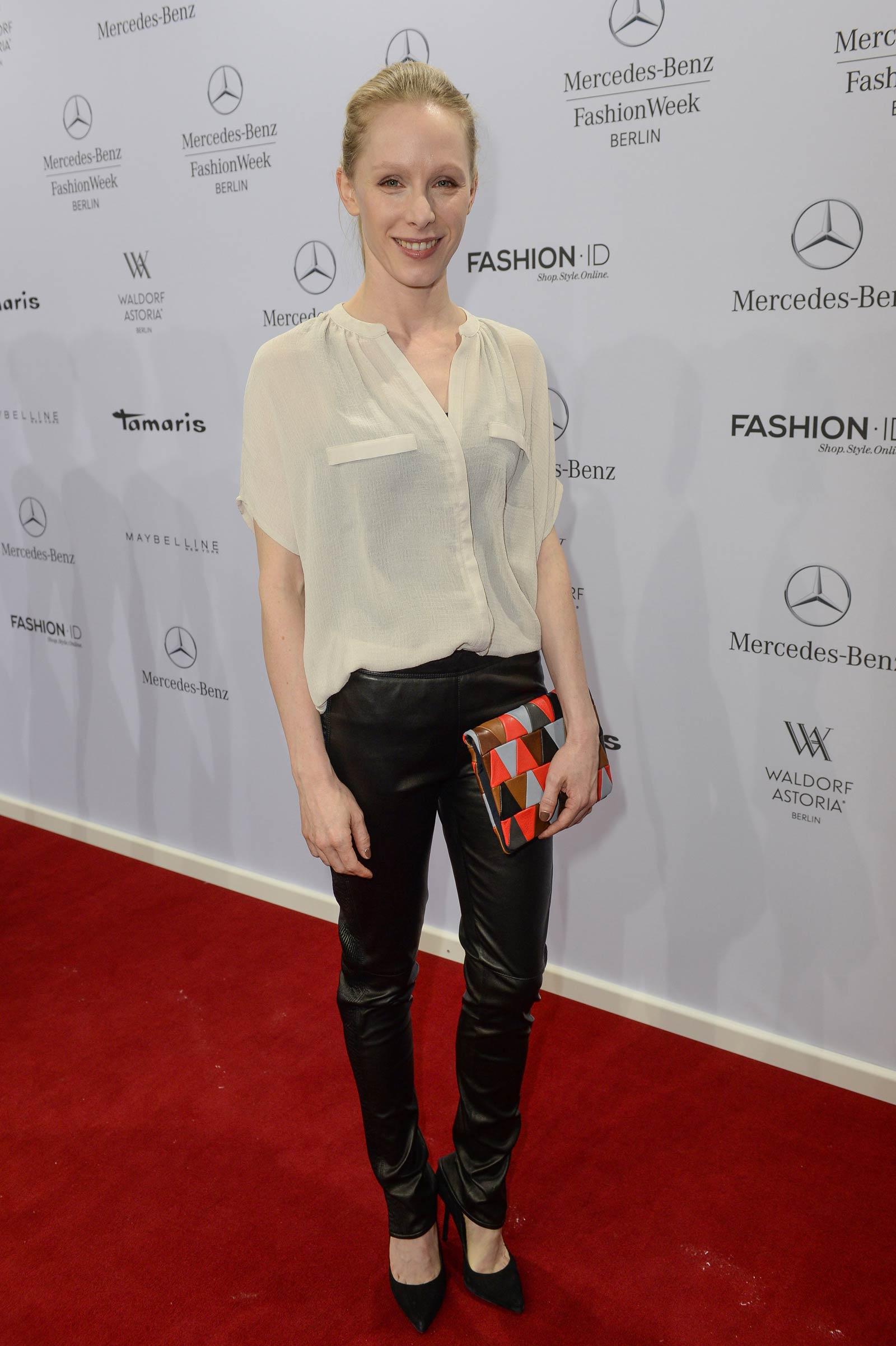 Susanne Wuest attends Merceses Benz Fashion Week