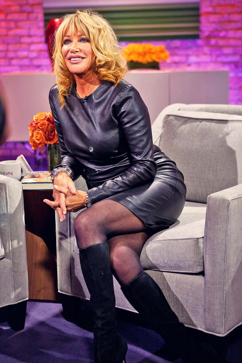 Suzanne Somers Appears On The Marilyn Denis Show Leather