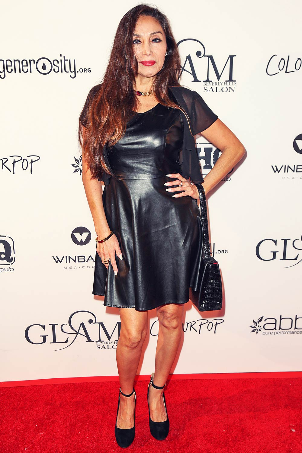 Sylvia Sylver attends GLAM Beverly Hills Salon Grand Opening and Ribbon Cutting Celebration