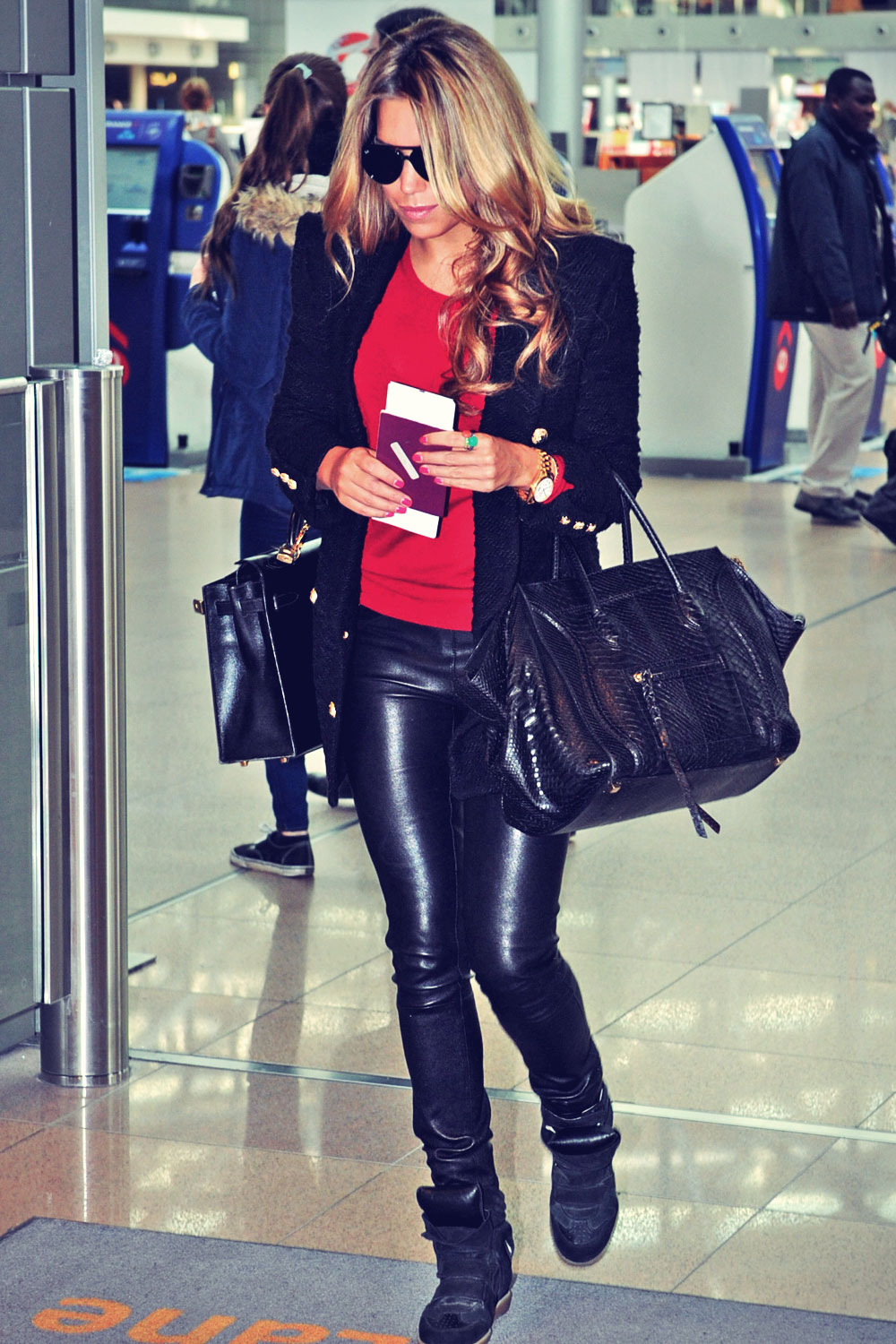 Sylvie Meis at Hamburg airport