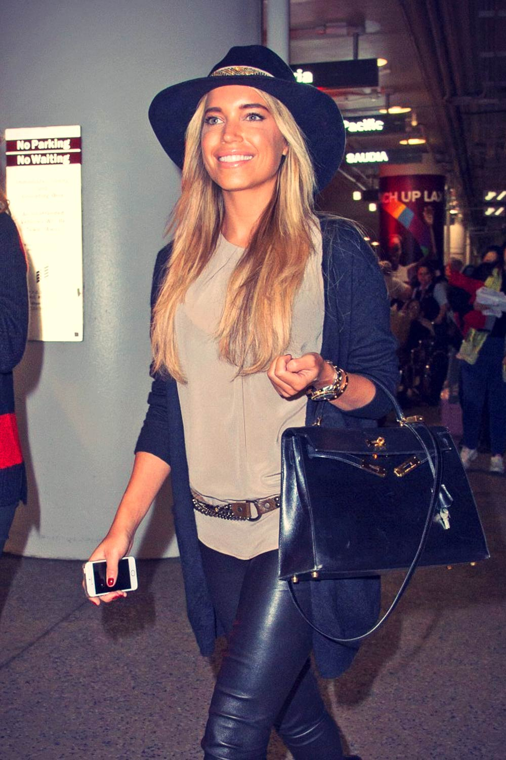 Sylvie Meis Is Seen At Lax Leather Celebrities