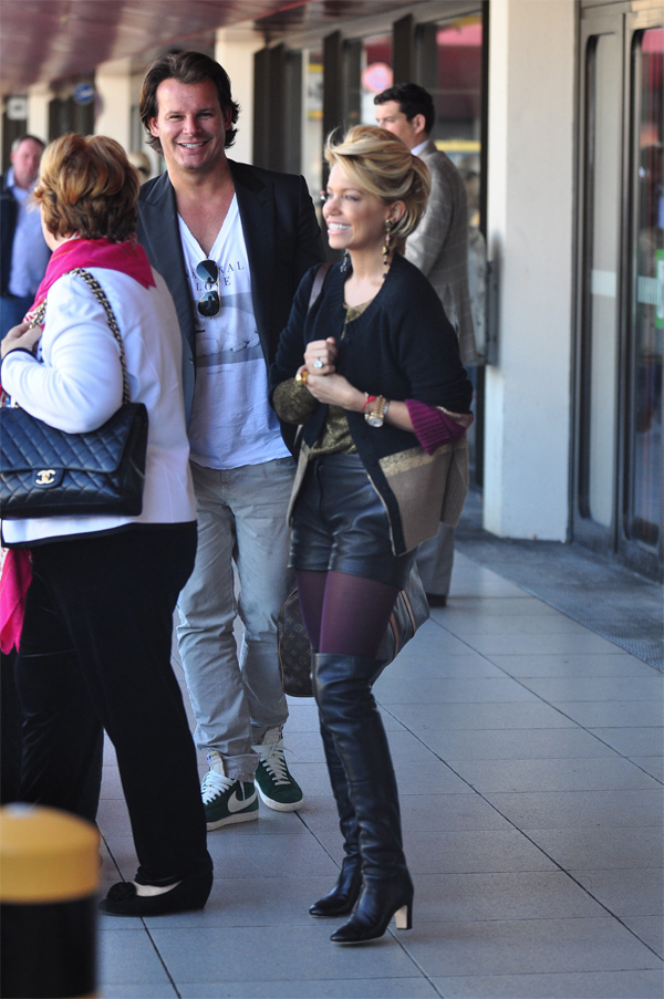 Sylvie Van Der Vaart  arrives at Berlin Tegel
