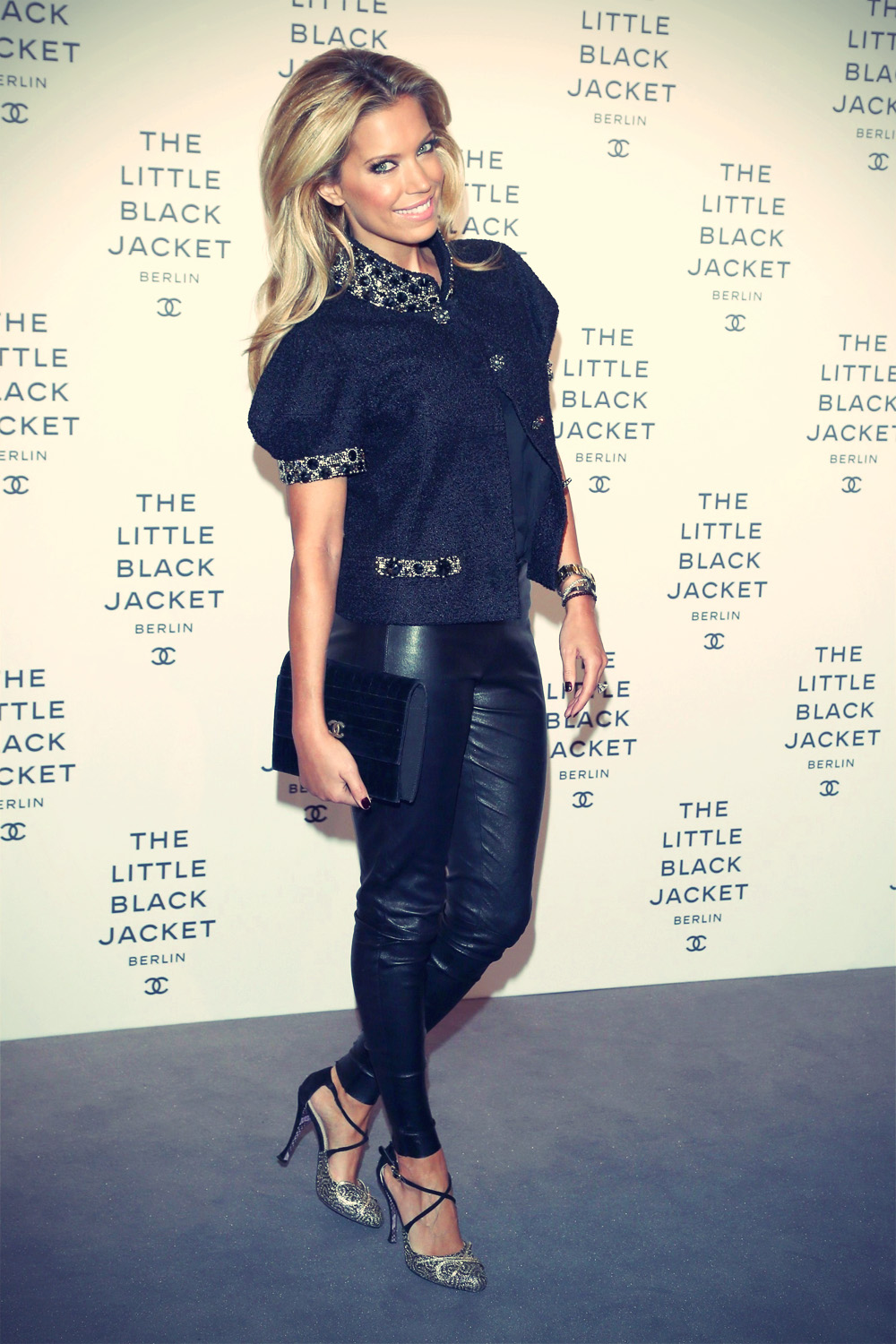 Sylvie van der Vaart attends CHANEL The Little Black Jacket Exhibition