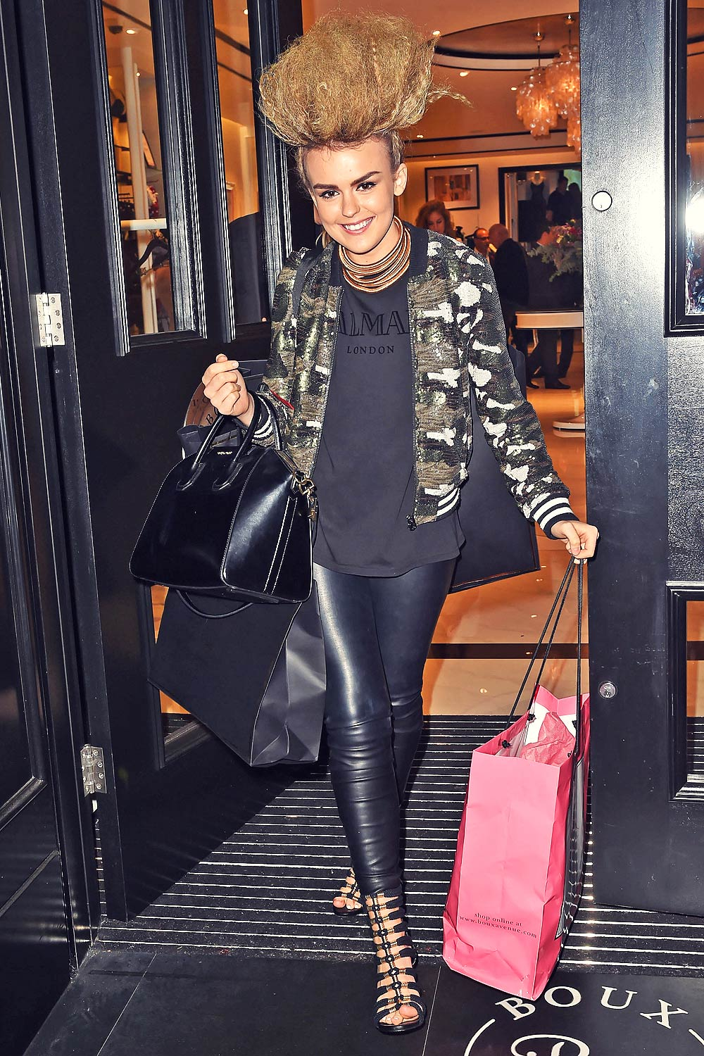 Tallia Storm attends Boux Avenue Oxford Street Store Launch