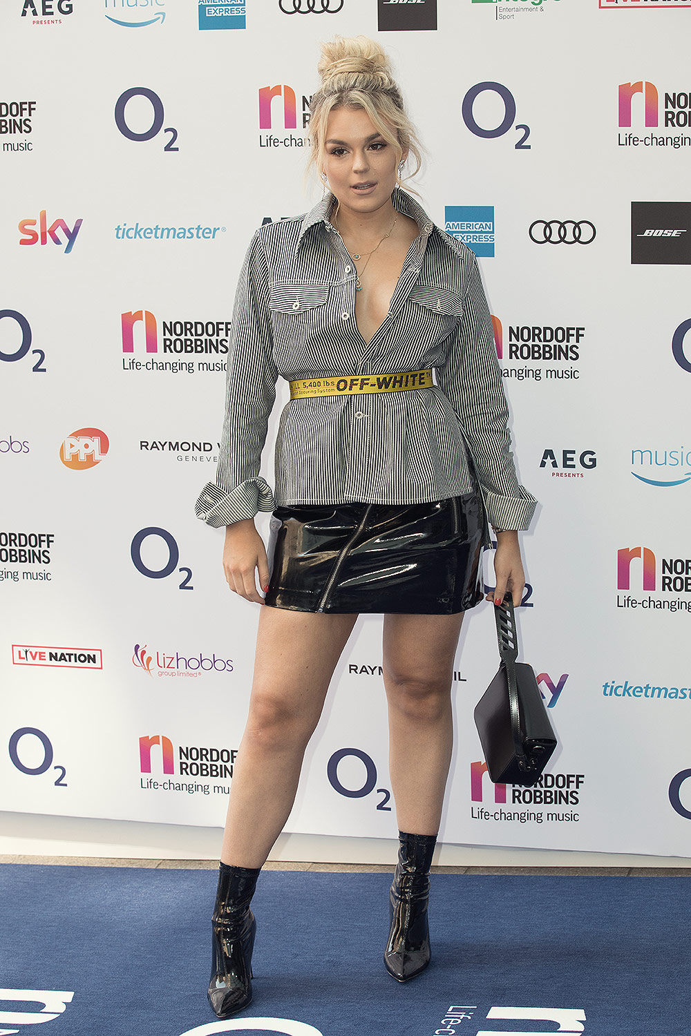 Tallia Storm attends O2 Silver Clef Awards