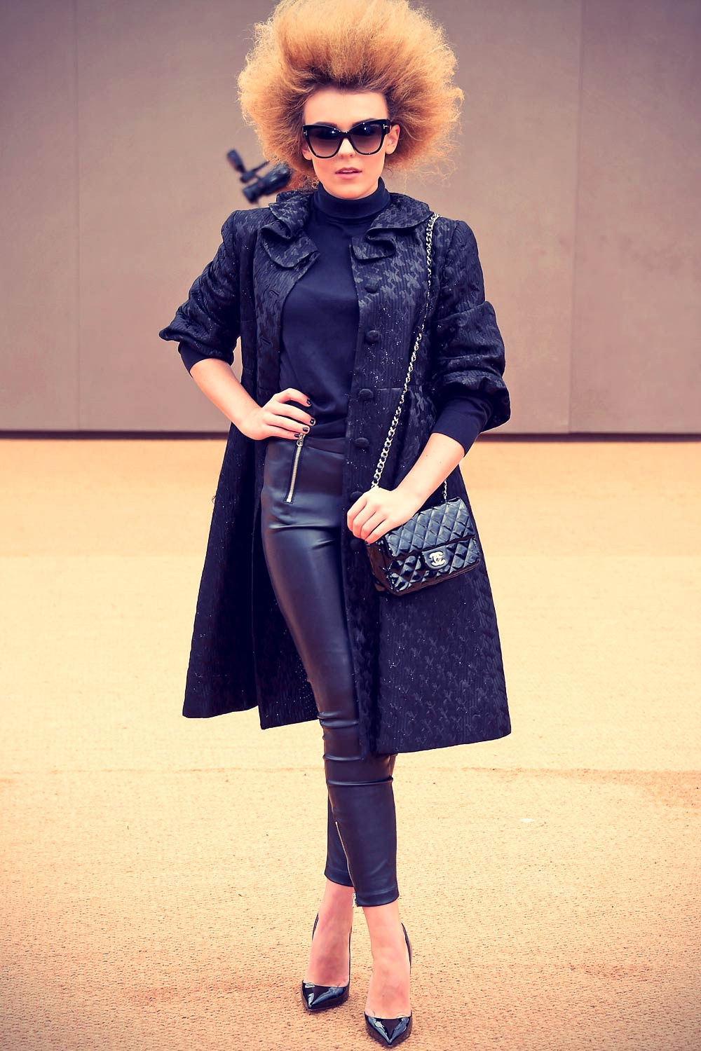 Tallia Storm attends the Burberry Prorsum AW 2015 arrivals