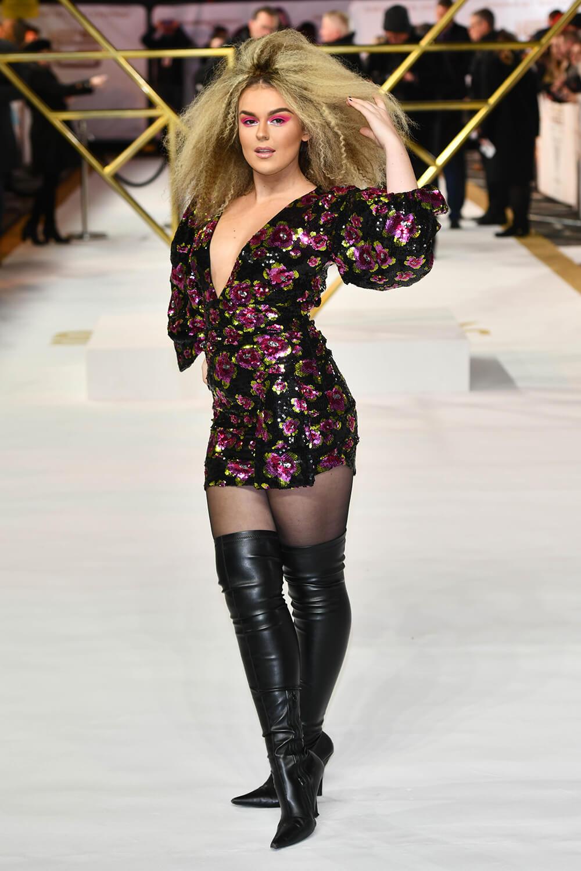Tallia Storm attends Charlie's Angels UK Film Premiere