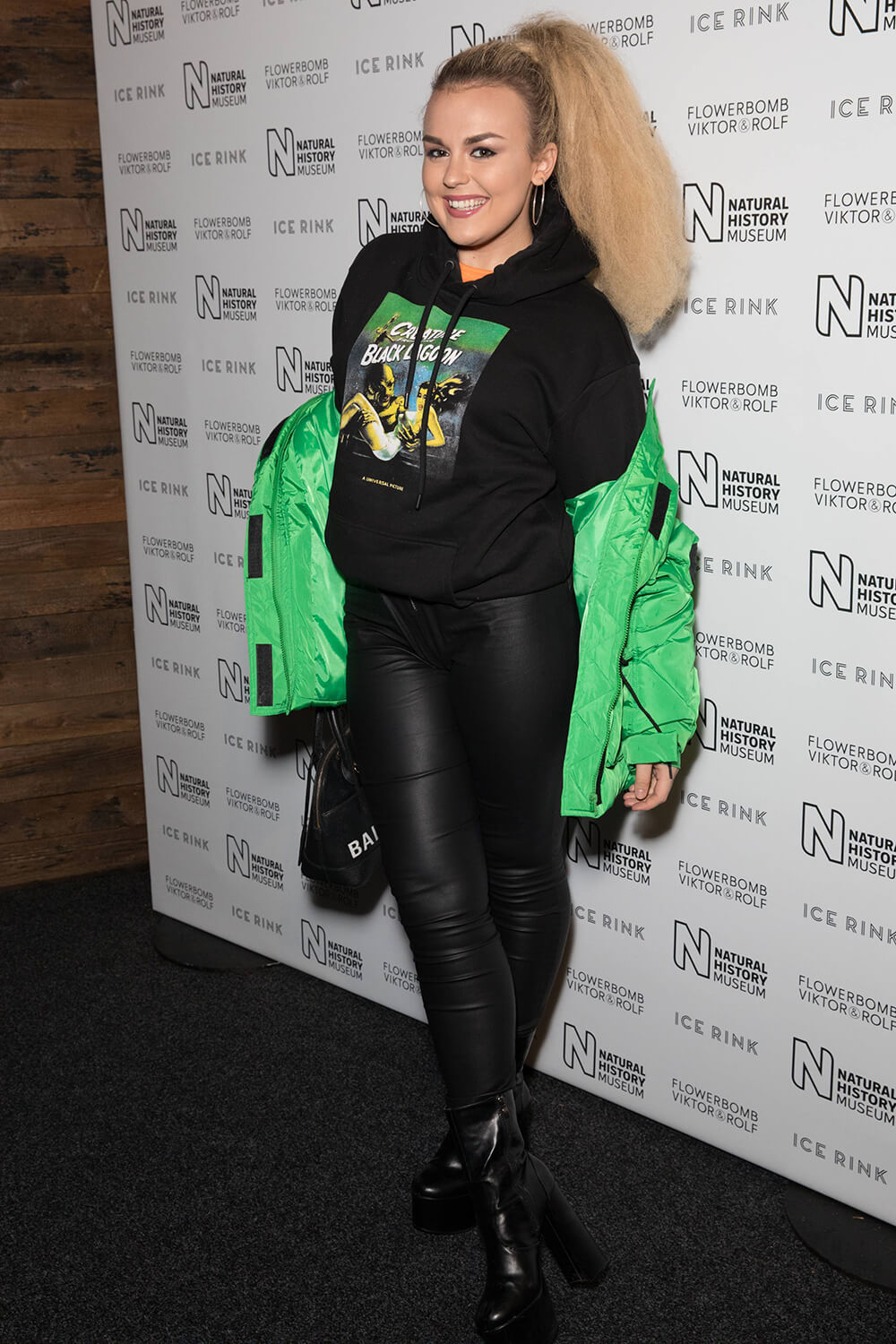 Tallia Storm attends Natural History Museum Ice Rink Launch Party