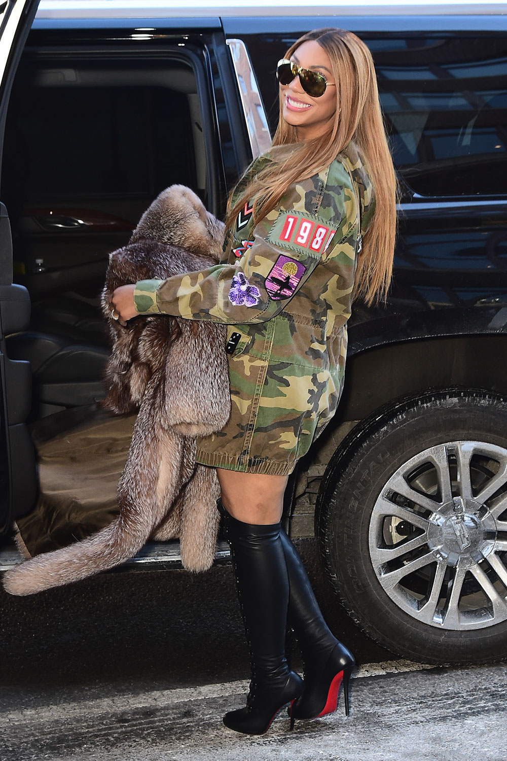 Tamar Braxton seen outside out Hot97