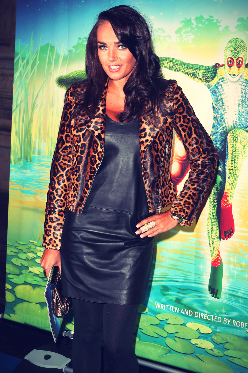 Tamara ecclestone leather pants tamara ecclestone leather dress tamara - Tamara Ecclestone At Cirque Du Soleil Uk Premiere
