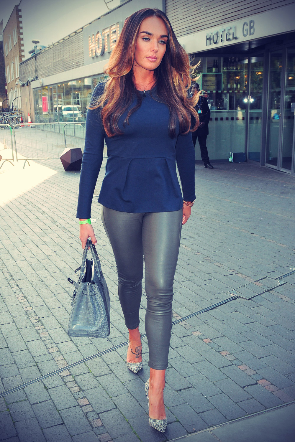 Tamara Ecclestone leaving Hotel GB