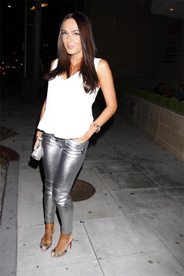 Tamara Ecclestone at steak house in Beverly Hills